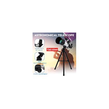 Profissional F36060 Monocular Espaço Astronômico Pro Refletor Telescópio Tripé Noite 90X