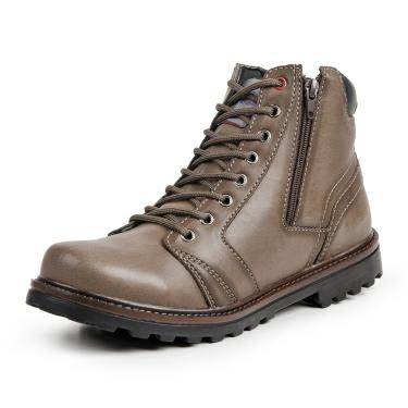 Bota Coturno Casual  Top Franca Shoes Bege  masculino