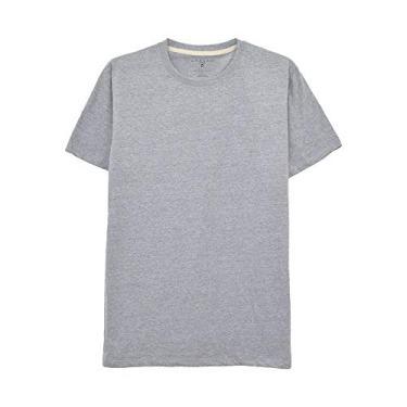 Camiseta Aveloz Básica Cinza Mescla-P