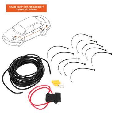 Imagem de Conversor, kit de fiação do conversor de alta qualidade, kit de conexão de fiação durável, para trabalho em carro com fusível 10A cabo 12AWG 55151