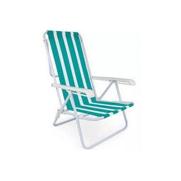 Cadeira Praia Reclinável 8 Posições Mor 002005 - Sortidos