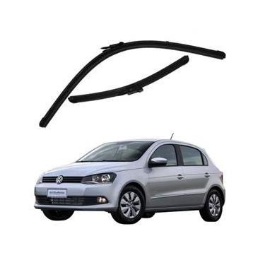 Kit Palhetas Limpador de Parabrisa Dianteiro VW Volkswagen Gol G6 Ano 2013 - Atual