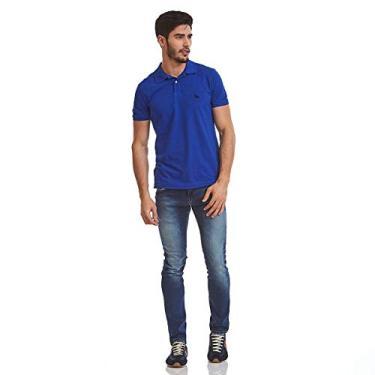 bc183d151b Polo Acostamento Masculino Manga Curta Azul