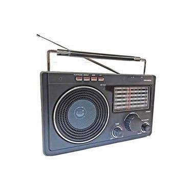Radio Am Fm Usb Sd Mp3 Retro Portátil 11 Bandas Recarregável