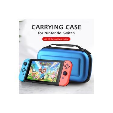 Bolsa de transporte para Nintendo Switch com 10 jogos de cartões EVA Hard Shell Handbag para Nintendo Switch Console Joy-Con Controller Acessórios
