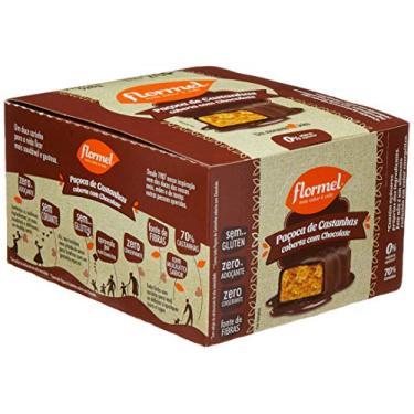 Flormel Paçoca de Castanhas Chocolate Zero 528g (Contém 24 Unidades de 22g)