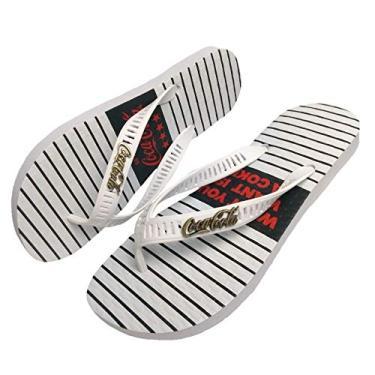 Chinelo Masculino Coca Cola Shoes Trails Branco CC2906