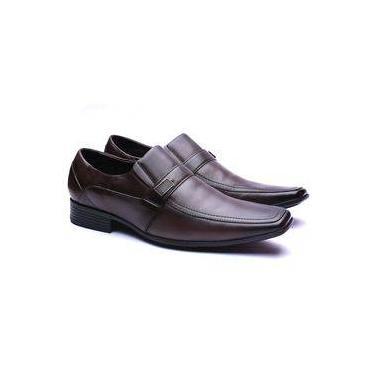 Sapato Social Masculino Couro de Carneiro Manutt 4040 Marrom 608d921a273