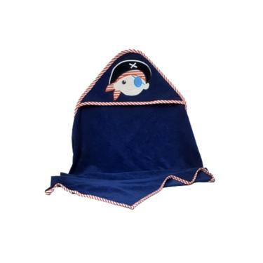 Toalha De Banho Bebê Pirata Zip Toys