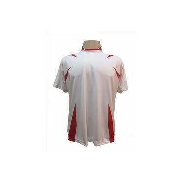 Imagem de Jogo de Camisa com 14 unidades modelo Palermo Branco/Vermelho +