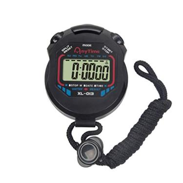 VOSAREA Cronômetro Esportes Cronógrafo Temporizador Eletrônico Esporte Cronômetro Digital Profissional Handheld LCD Cronômetro para Árbitros de Fitness Esportes Corredor