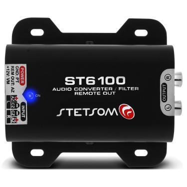 Adaptador Fio Conversor RCA Stetsom ST 6100 Remoto Auxiliar Filtro Anti Ruído