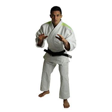 Kimono Adidas J990 Millenium Branco Listas Verde 160