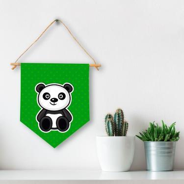 Flâmula Decorativa Panda Infantil Único