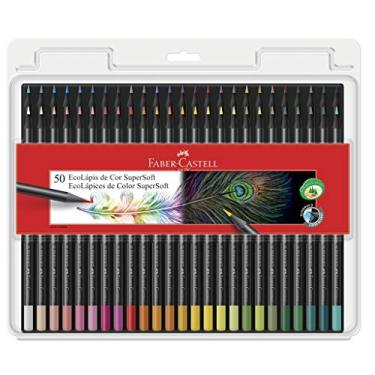 Lápis de Cor, Faber-Castell, EcoLápis Supersoft, 50 Cores