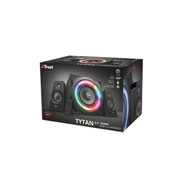 Caixa de Som Gamer Trust GXT 629 Tytan 2.1 T22944 LED RGB 120W 1,5m de Cabo