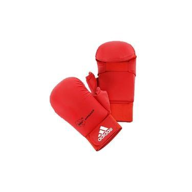 Luva Karatê adidas com Dedão Vermelha WKF Aprroved Old Collection