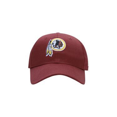 Boné Aba Curva New Era 920 Washington Redskins - Strapback - Adulto - VINHO New  Era 61231ab07c6