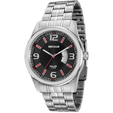 Relógio de Pulso Seculus Resistente a àgua   Joalheria   Comparar ... 42ef763531