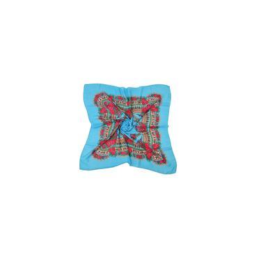 Mulheres senhora Muçulmana Flor com estampa Folk-Custom Lenço quadrado Wrap Xale Lenço de viagem