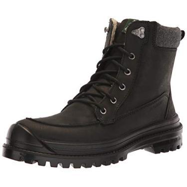 Kamik Bota masculina clássica no tornozelo, marrom escuro Brun Fone, Black Black Blk, 11