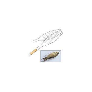 Imagem de Grelha Dupla Para Assar Peixe Na Churrasqueira Em Aço Inox