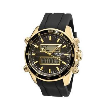 Relógio Technos Masculino Analógico e Digital 0527AG 8P com pulseira de  silicone 0a67730369