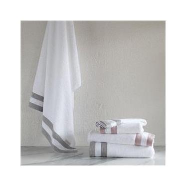 Imagem de Toalha Rosto Buddemeyer Luxus Blend Branca/Cinza