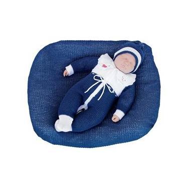 Saída de Maternidade Ternura Masculina Tricô Azul Marinho