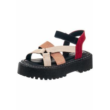 Sandalia Plataforma Gigil Papete Flatform Multicolorido  feminino