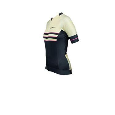 Camisa Ciclismo Feminina Bike Oggi Skin Manga Curta Woom Supreme (Amarela Preta Skin, P)