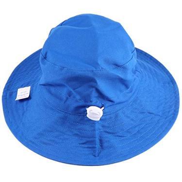 SOIMISS Chapéu de sol de secagem rápida Chapéu prático de pescador bebê à prova de poeira Boné de pescador Boné respirável para crianças Crianças (azul)