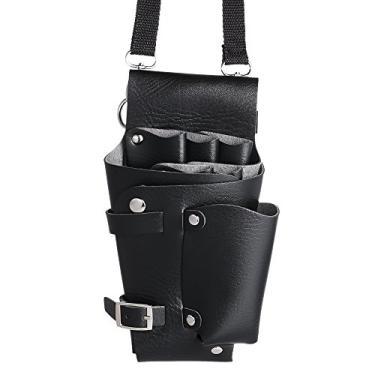 Barber Holster PU Leather Pouch Titular Rivet Cabelo Scissor Bolsas Clips Cintura Ombro Belt