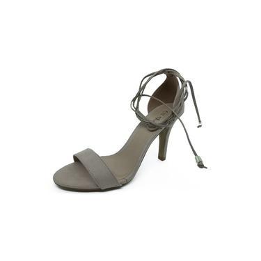 Sandália Salto Fino Tira Simples Amêndoa CS Shoes