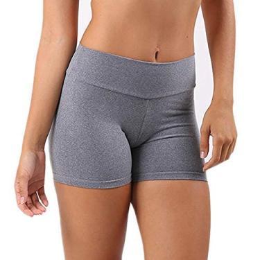 Shorts Feminino Curto Bermuda Shortinho Fitness Suplex Alta