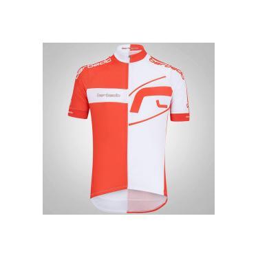 Camisa de Ciclismo Barbedo Team Red - Masculina - LARANJA BRANCO Barbedo dc9af92d1467a