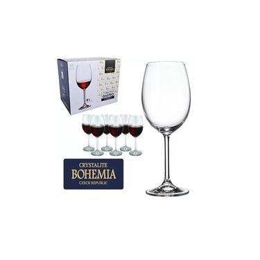 Jogo 6 Taças Vinho Cristal Titanium 580ml Bohemia. Ref - 4s032