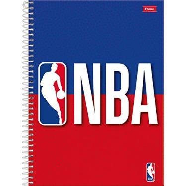 Caderno 10 Matérias Capa Dura 2019 NBA 200 Folhas, Foroni 9301, Multicor, 4 unidades