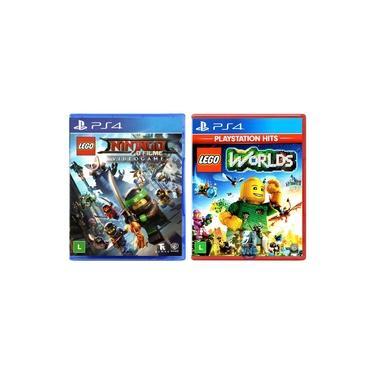 LEGO Ninjago - O Filme: Video Game + LEGO Worlds - PS4