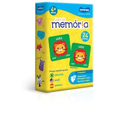 Imagem de Jogo de Memória - Português, Inglês e Espanhol, Toyster Brinquedos, Multicor