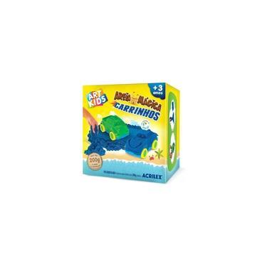 Imagem de Brinquedo Kit Areia Mágica Carrinhos 200g Art Kids- Acrilex