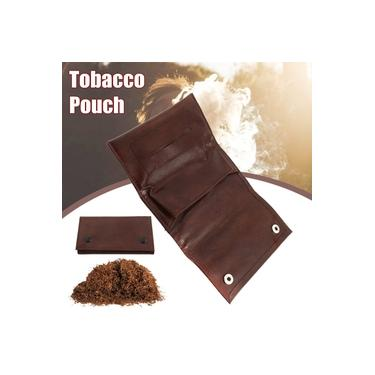 Bolsa de Tabaco Moda Couro 135*75MM Dry Tabaco Embalagem Bolsa Dobrável Brown Presente