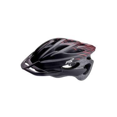 Capacete Ciclismo Runner Preto/vermelho Ptk C/regulagem