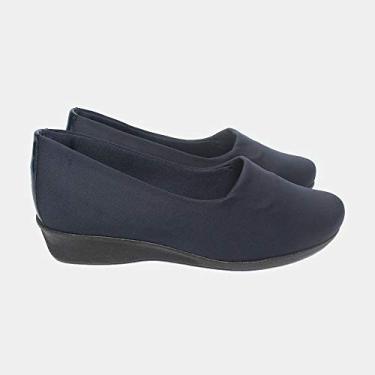 Sapato Malu Super Comfort Eloá Feminino Marinho 39