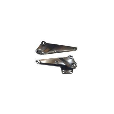 Suporte Pedaleira Bacalhau Cb-400 Alumínio Polido Par