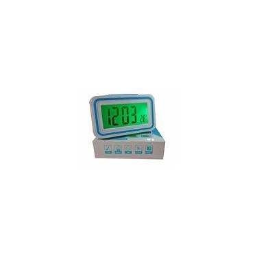 Imagem de Relógio Digital Luminoso Despertador Que Fala Hora Idoso Cego