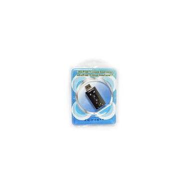Adaptador Placa De Som USB 7.1 Com Entrada P2 e Fone