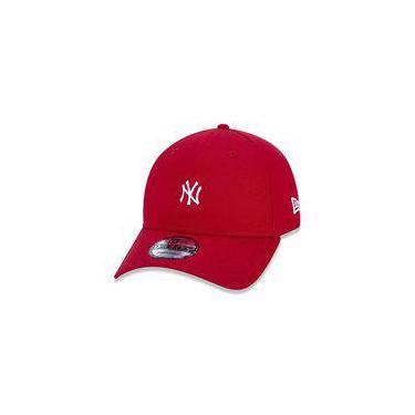 Bone 9forty Aba Curva Ajustavel Mlb New York Yankees Essentials Basic Vermelho Aba Curva Snapback Vermelho New Era