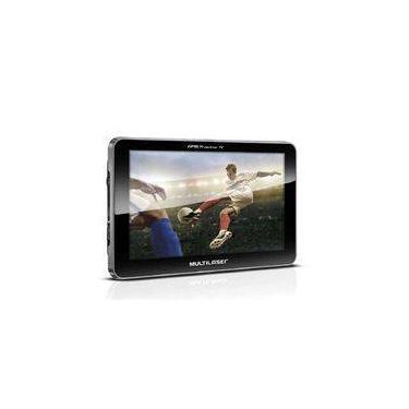 GPS LCD 7 Pol. Touch Tv Digital Rádio FM Tts E-Book Multilaser - GP038 - Padrão
