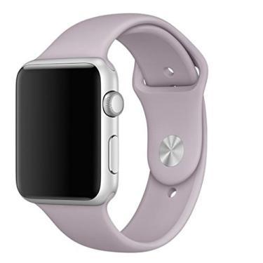 Pulseira Sport em Silicone para relógio Apple Watch 42mm Series 3 2 1 (Lavanda 42mm ML)